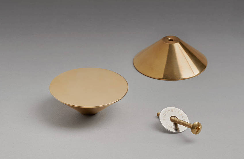 Troncocono gold is made of polished brass | Indoors home page | Indoors