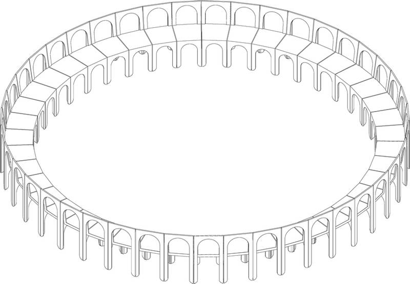 43 Claudio chairs make a circle | Indoors home page | Indoors
