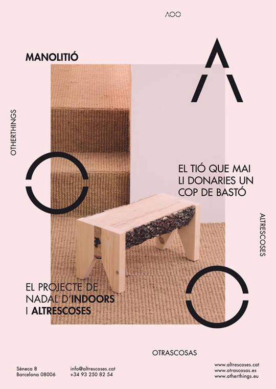 Indoors has joined forces with Otrascosas to design a Christmas piece of furniture. We've called it MANOLITIÓ. | Indoors